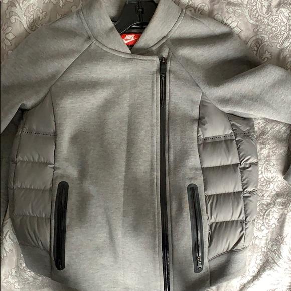 48f5e602b Nike tech fleece quilted bomber jacket